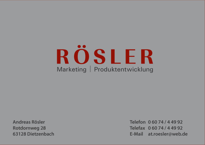 Rösler Marketing Produktentwicklung